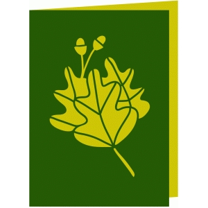 oak leaf fold over card