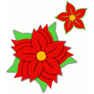 poinsettia nested flower