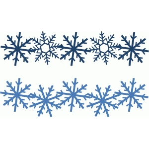 2 medium snowflake borders