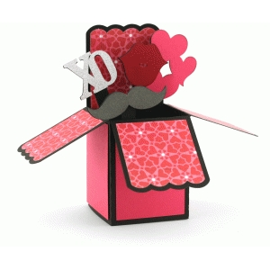 a2 valentine xo box card