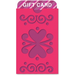 flourish & hearts pocket gift card holder