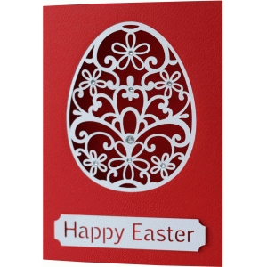 5x7 easter egg flourish card