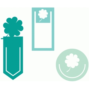 four leaf clover paperclip set
