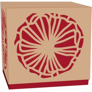 poppy lidded gift box