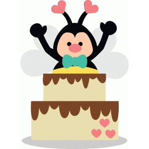 bee with cake