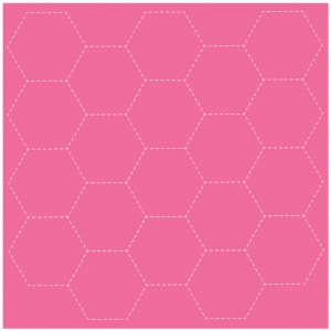 stitched hexagon background