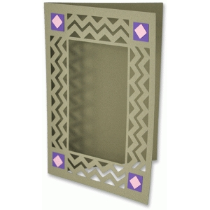 chevron frame card