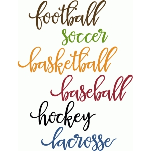 sports script words