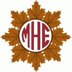 maple leaf monogram wreath