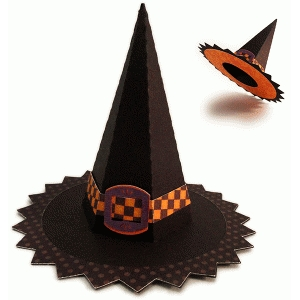 witch 3d sawtooth hat