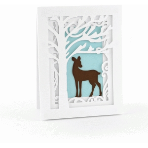 a2 deer scene pop dot card