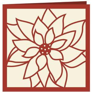 poinsettia papercut card