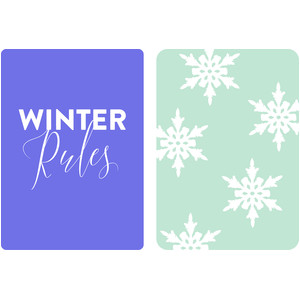 winter journaling cards