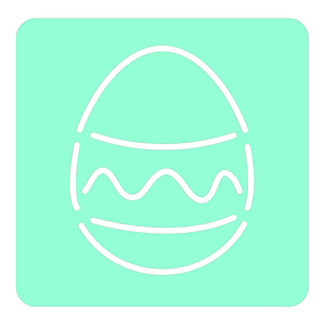 stripe easter egg stencil