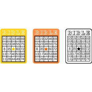 bingo card set- bible