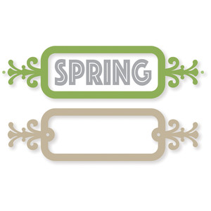 fancy spring bookplate