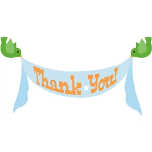 birdie thank you banner