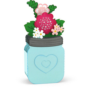 mason jar bouquet box card