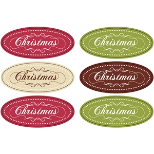 christmas tag label set