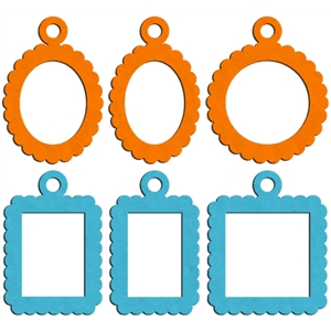 scalloped frame charms