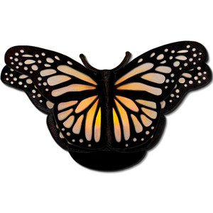 monarch butterfly tea light lantern (flameless)