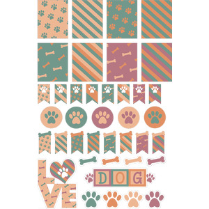 dog-themed planner sheet