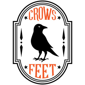crows feet halloween apothecary label