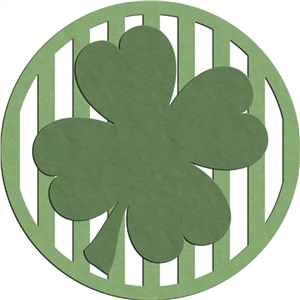 clover striped badge