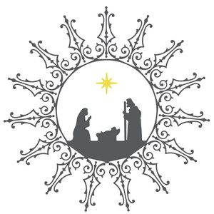 nativity filigree wreath