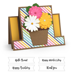 center step card flower pot