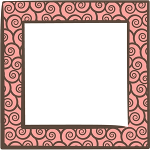 square swirly frame