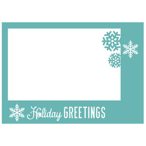 holiday greetings photocard