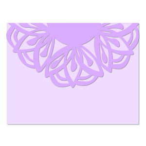flower doily flap envelope
