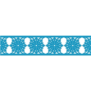 snowflake border ribbon