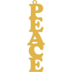 peace word tag