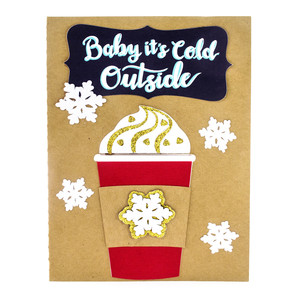 coffee cup christmas card