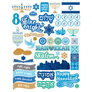 happy hanukkah sticker sheet