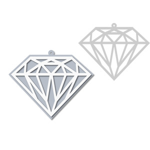 diamond gem ornament - tag
