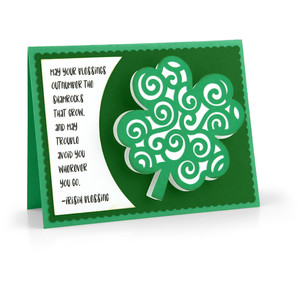 bobble card shamrock