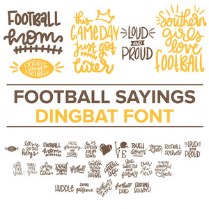 football sayings dingbat font