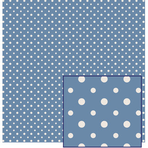 blue polka dot pattern