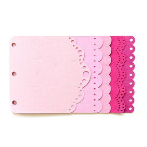 mini album scalloped edges