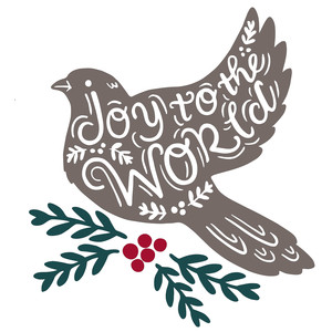 joy to the world dove silhouette
