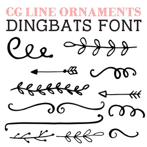 cg line ornaments dingbats