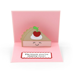 pop up card valentine pie