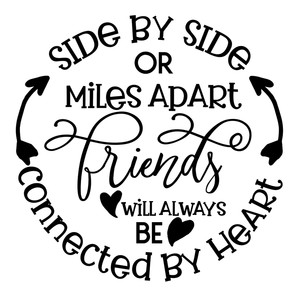 friends will be connected by heart
