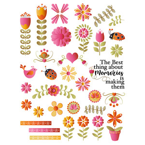 folk art three planner stickers