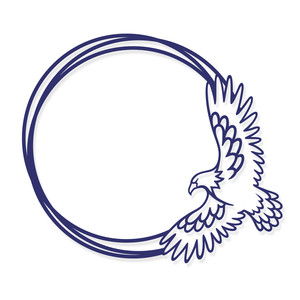 eagle monogram frame