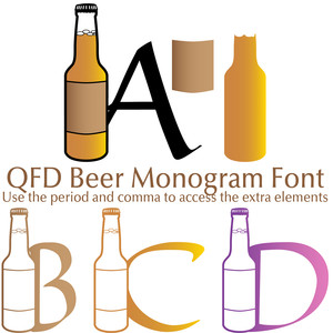 qfd beer monogram summer party font