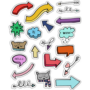 ml arrows and animals stickers